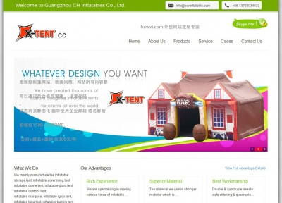 HowVi web design,website desesign in Guangzhou,English website design,soho website design in GZ, website programming,php website development,custom design a site only $200 or ¥1200 at Howvi.com Guangzhou tents website